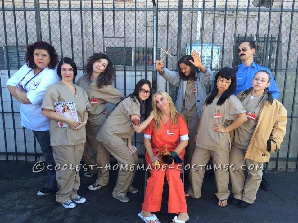 Cool Group Halloween Costume Idea Orange is the New Black