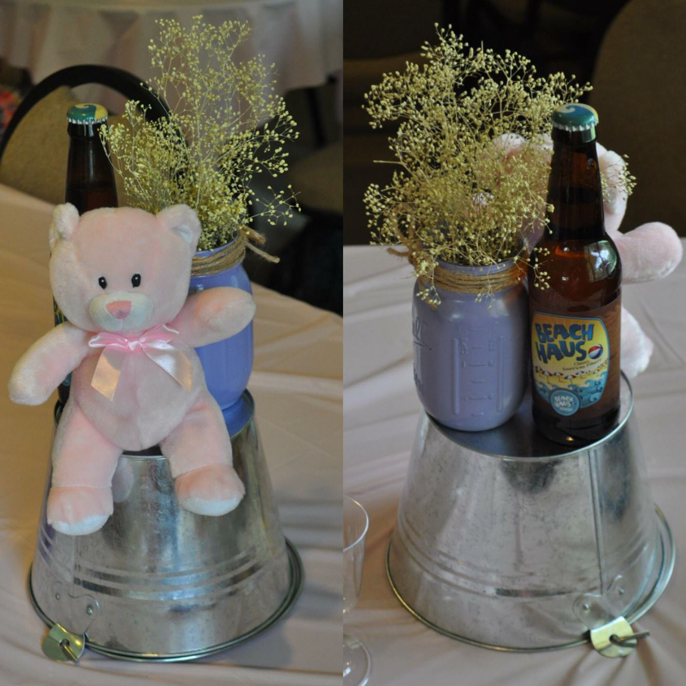 A Baby Is Brewing Themed Baby Shower Centerpieces Pink