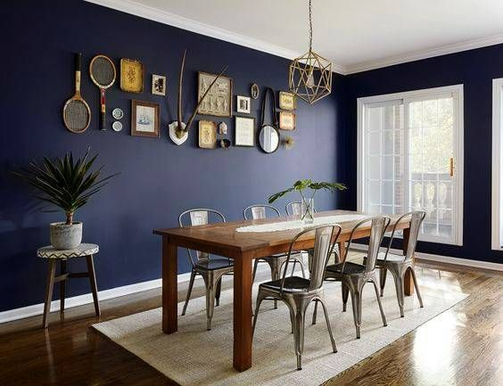Navy Dining Rooms That Got Our Attention