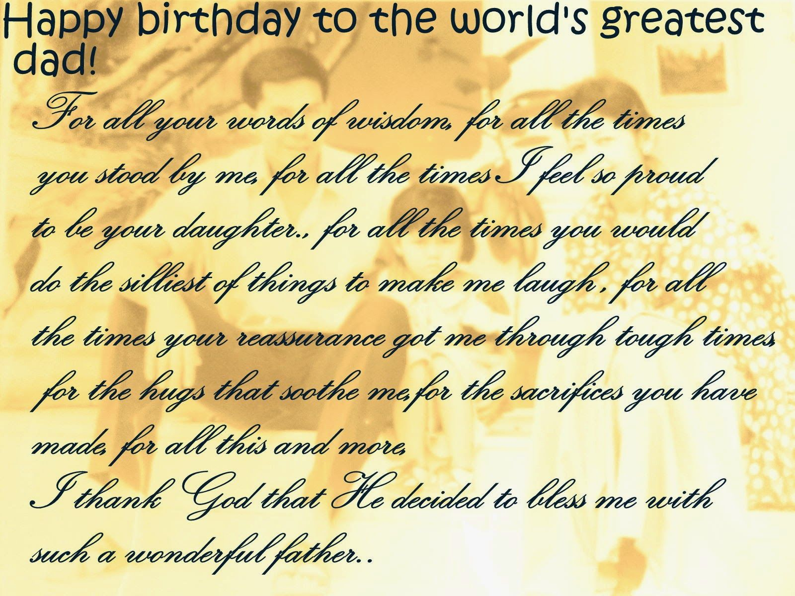Happy Birthday Dad Quotes For Facebook New world of fun