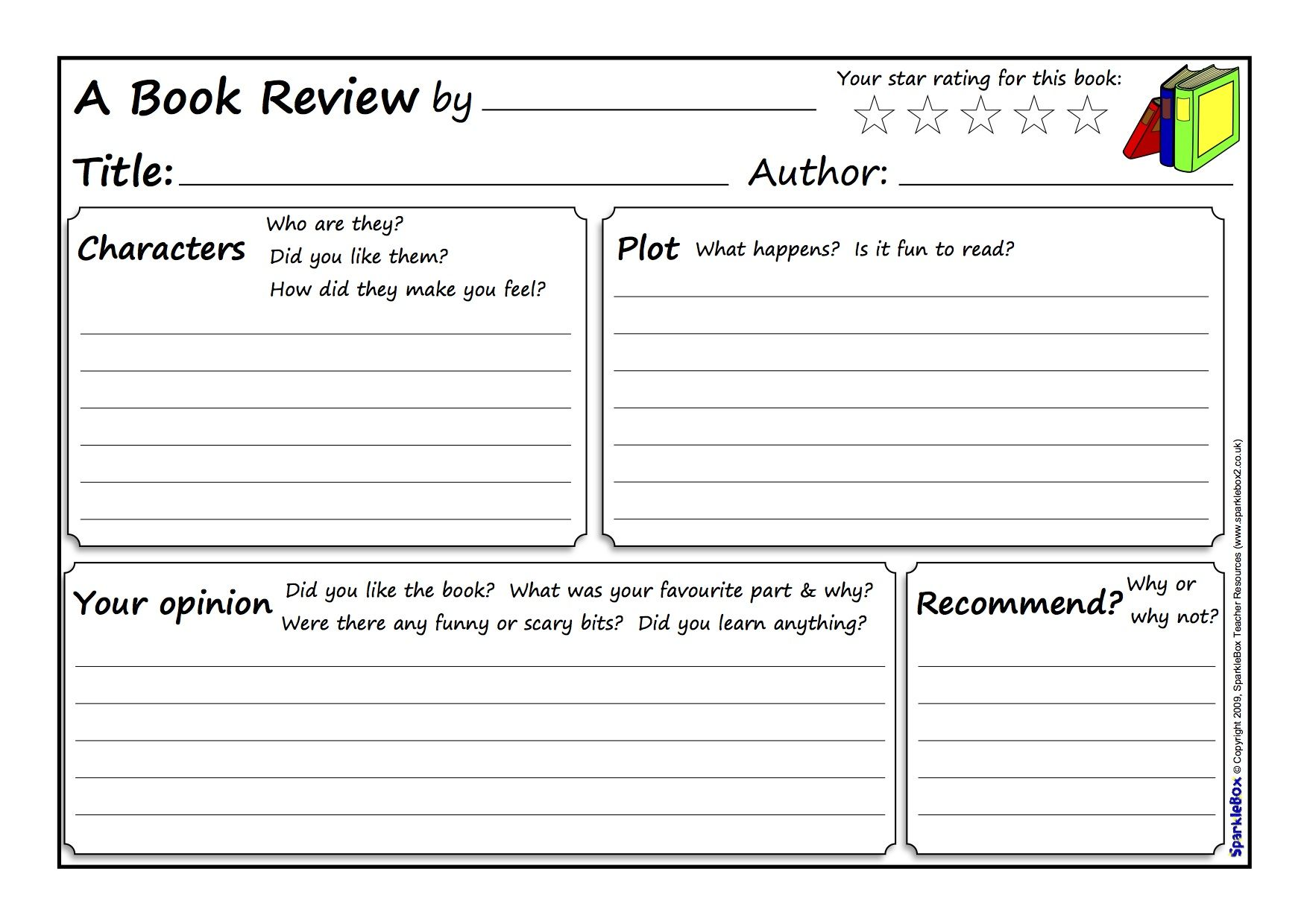 Great Book Review Template
