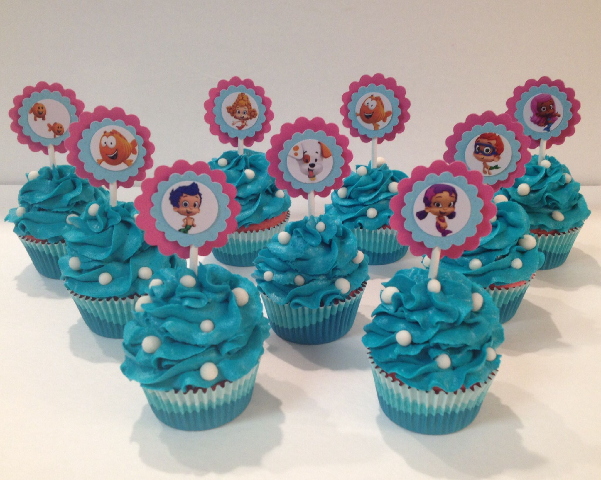 Bubble Guppies Cupcakes By Jilllee S Goodees