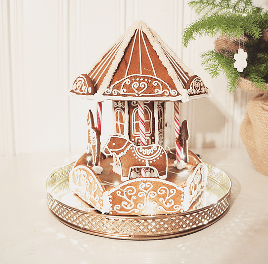 Free template for gingerbread carousel … Pinteres…