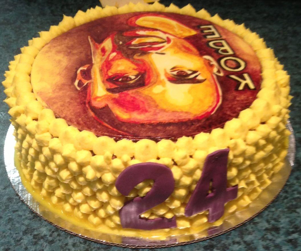 Kobe Bryant Cake (back) My Cakes Pinterest Kobe