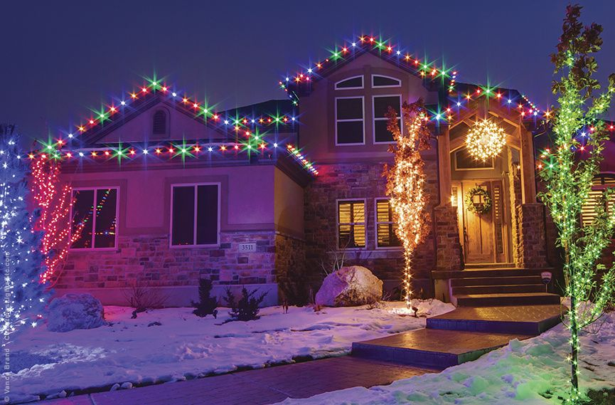 Outdoor Christmas Lights Ideas For The Roof Roof light