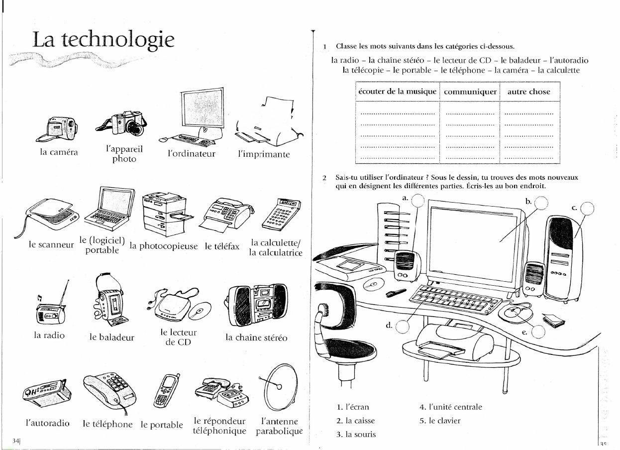 Activite Vocabulaire De L Informatique