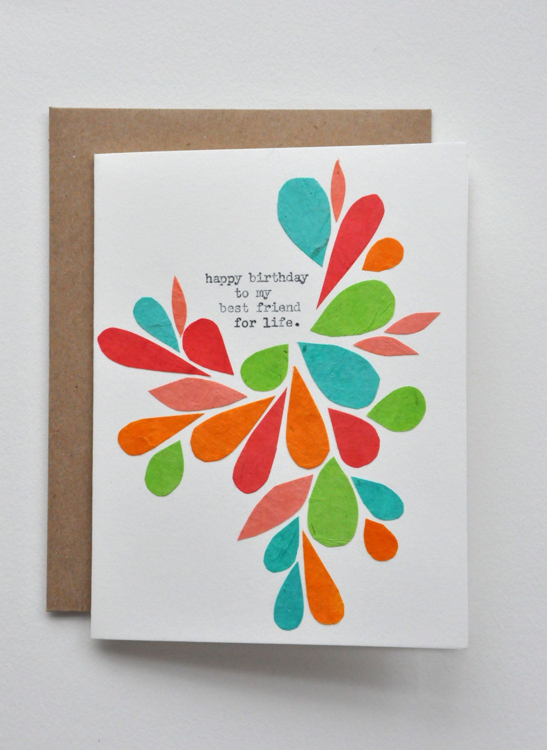 Happy Birthday Birthday Card Best Friend Handmade