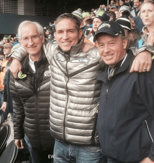Jim Caviezel with his father James Sr at the Seattle
