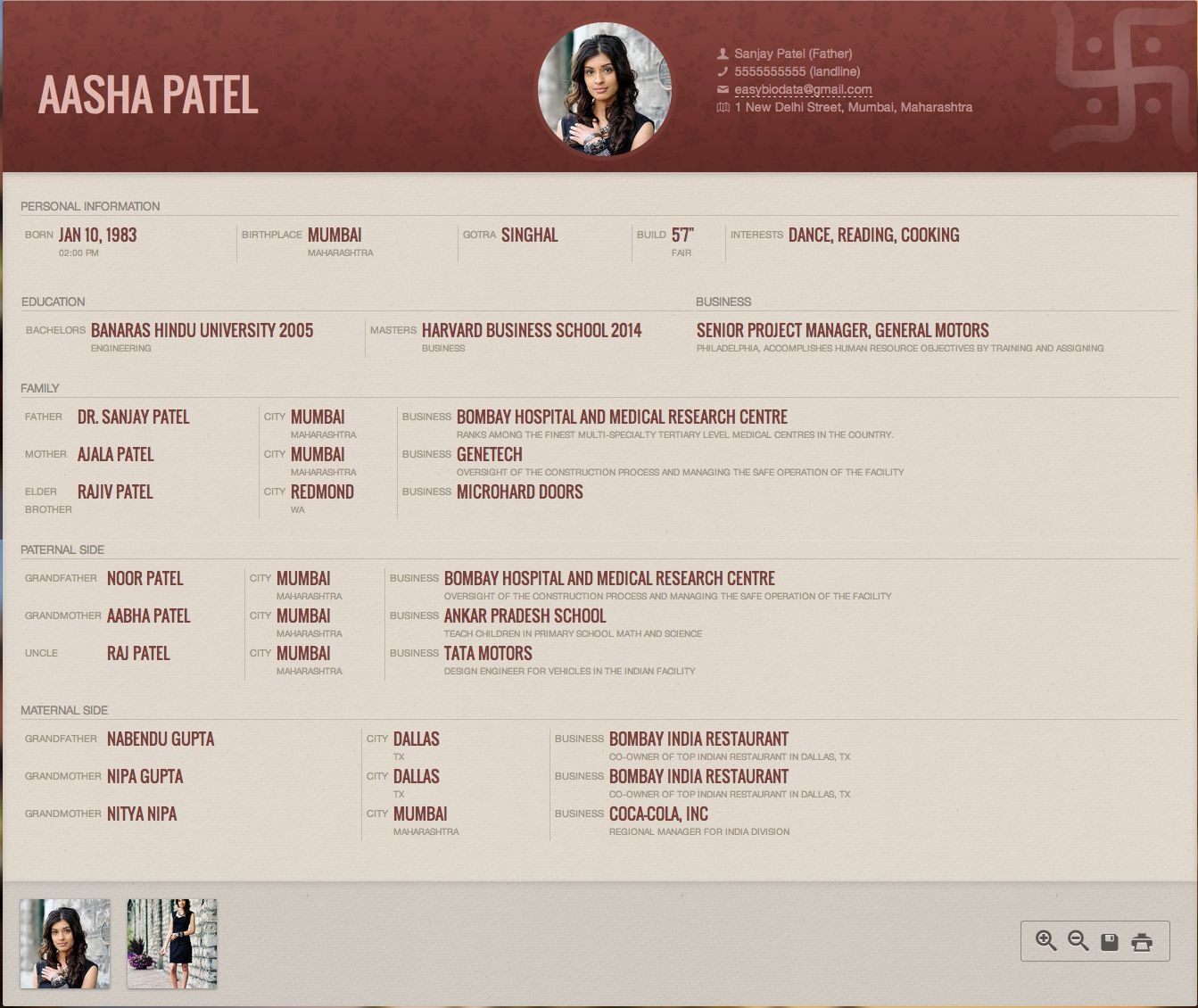 sample biodata images about biodata for marriage samples on job