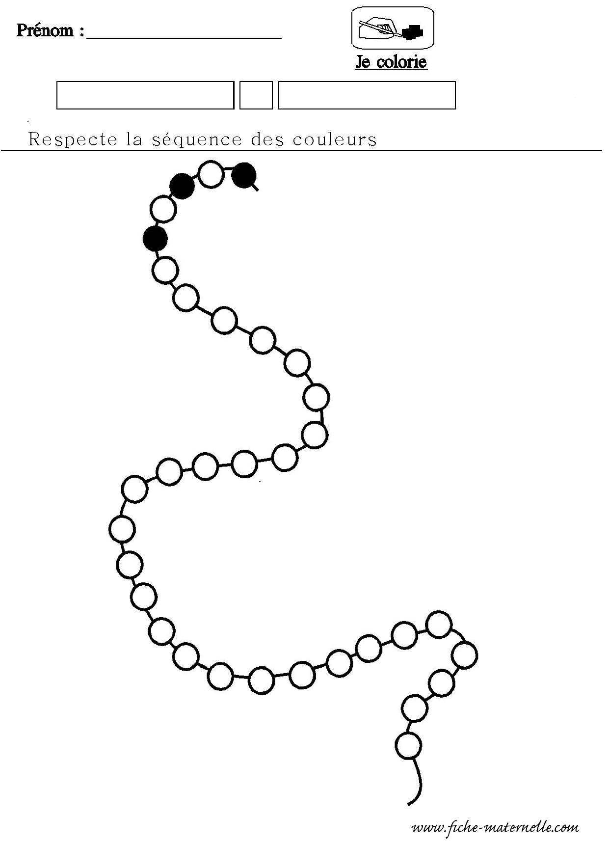 Mathematiques Maternelle Algorithme Du Collier