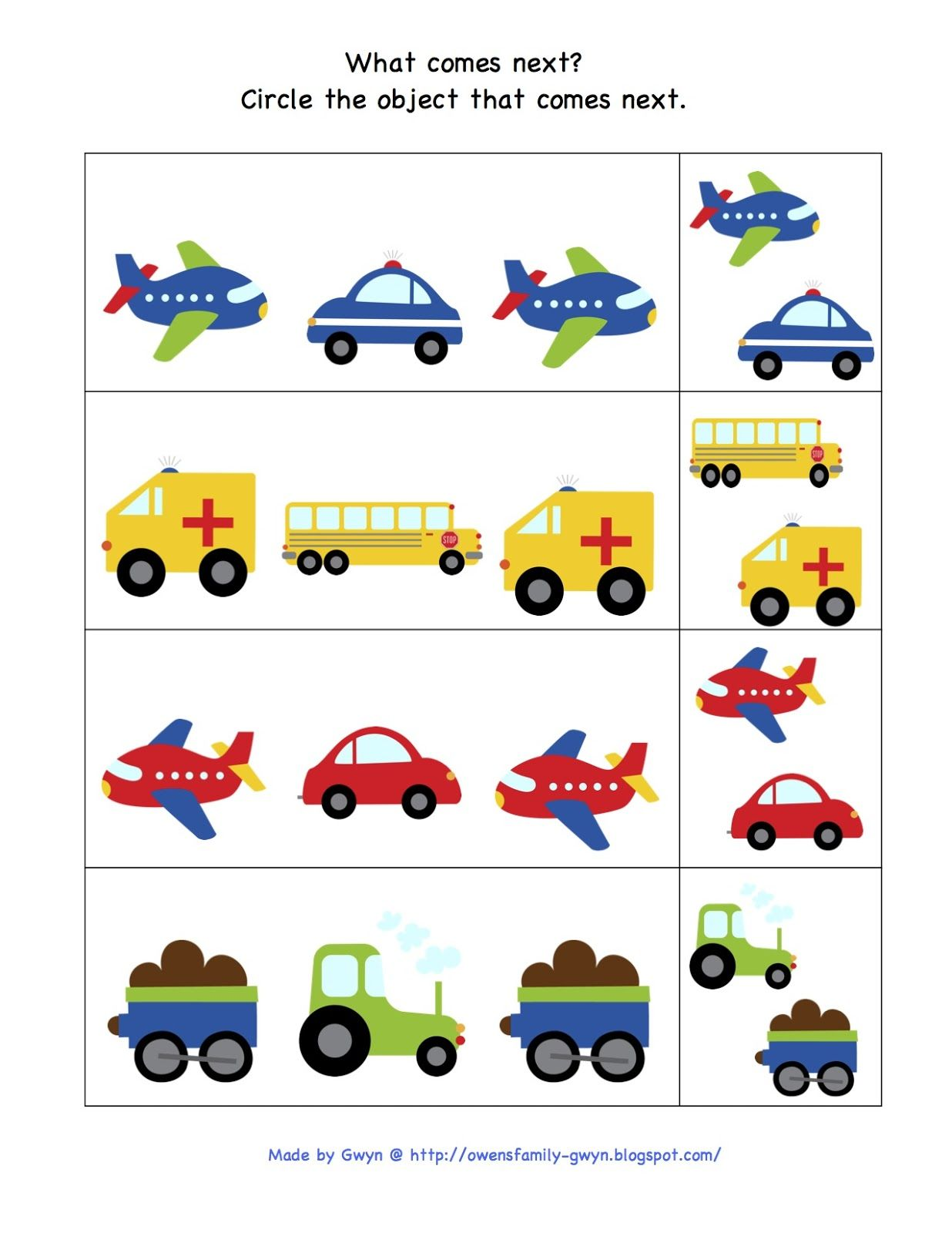 Preschool Printables Trains Planes And Automobiles