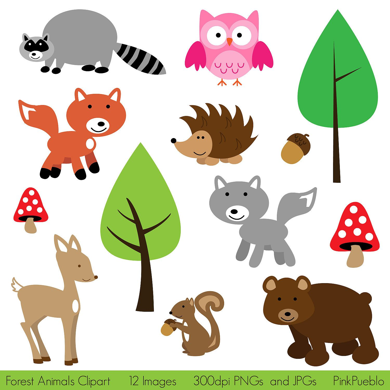 Forest Animals Clip Art Clipart Woodland Animals Clip Art