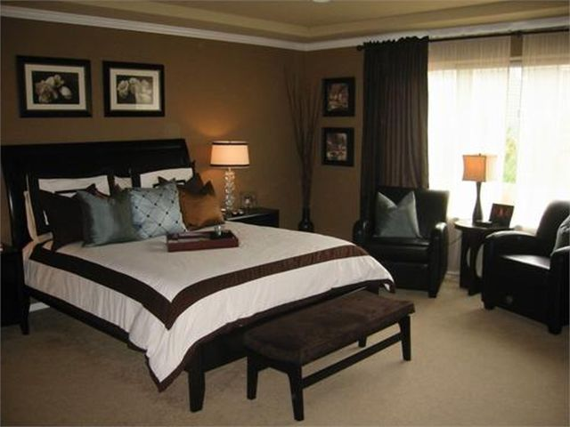 Prepossessing 10 Bedroom Wall Colors With Dark Brown Furniture