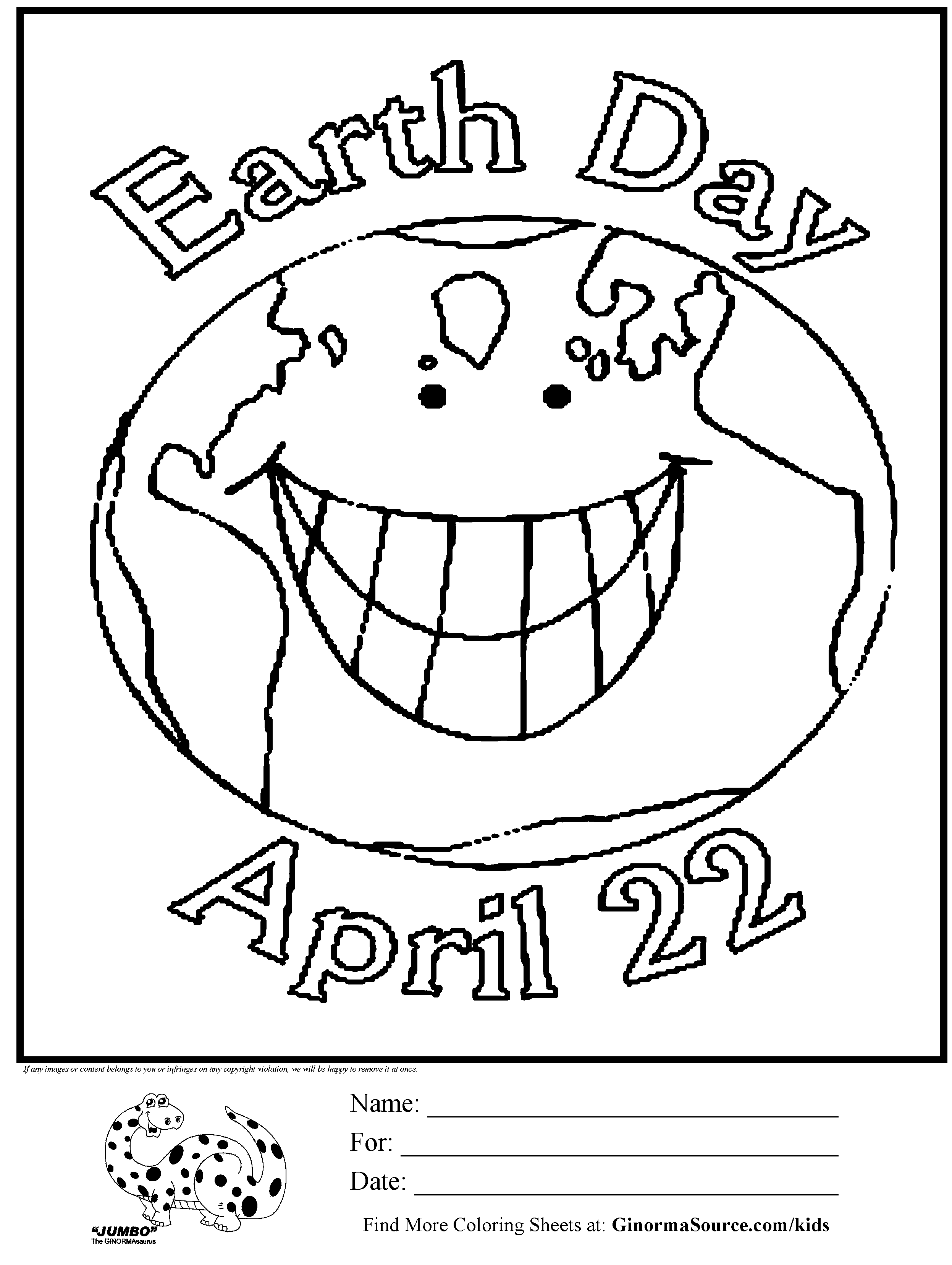 Earth Day Coloring Pages For Kids