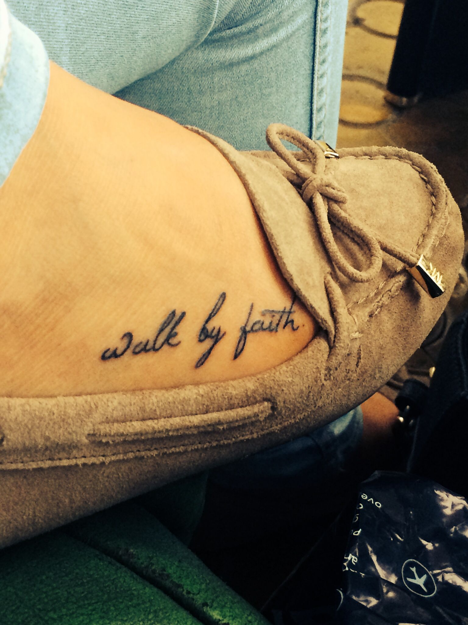 Tattoo ideas small walk by faith foot shoes Tattooes