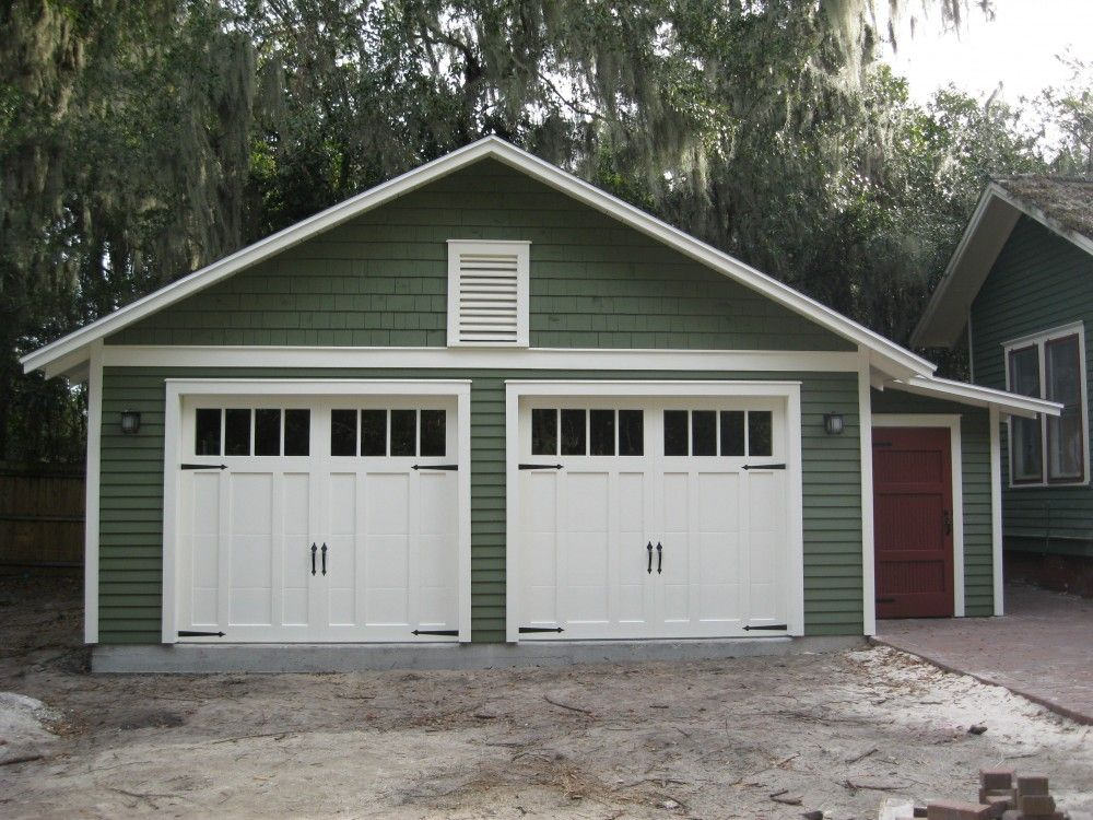 Custom twocar garage with attached Garage