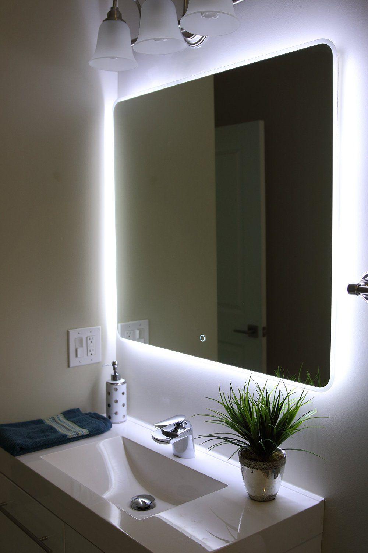 windbay backlit led light bathroom vanity sink mirror. illuminated