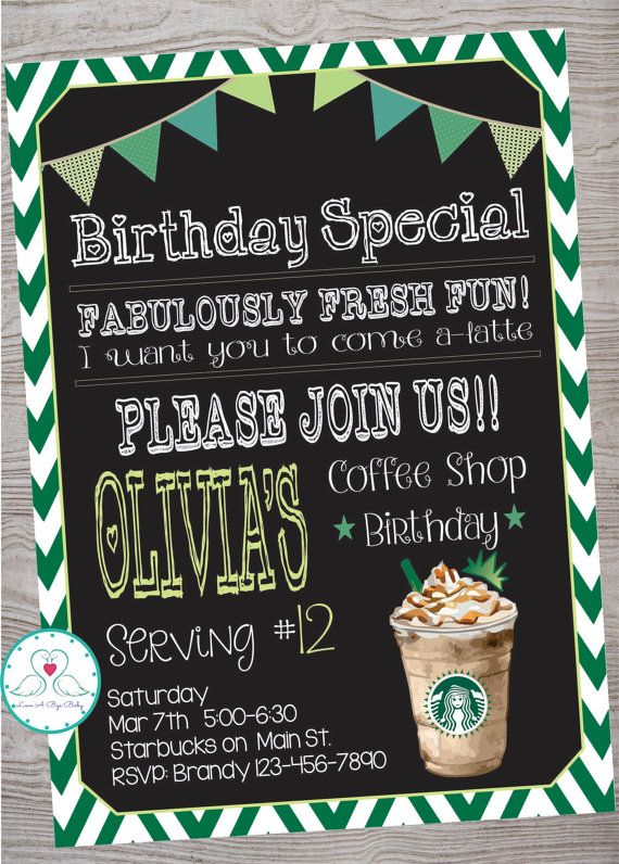 Starbucks Cafe Coffee Shop Inspired Birthday Party