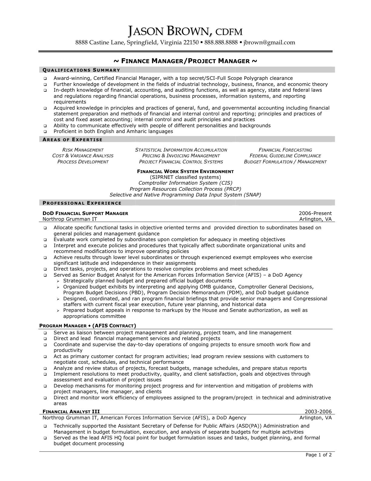 pmo resume deputymanageriiresume example sample india project