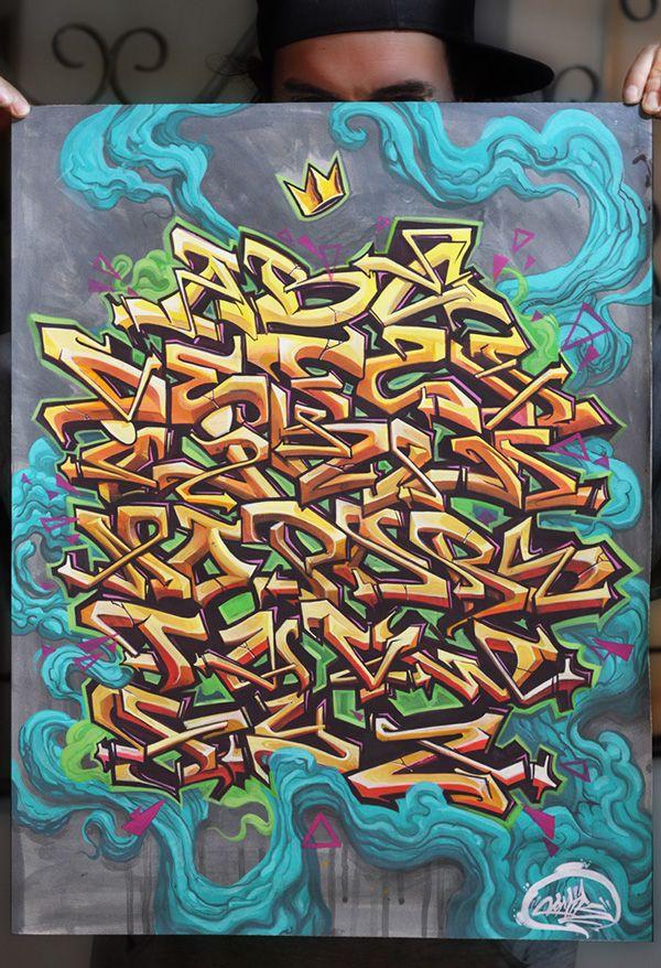 GRAFFITI ALPHABET on Behance Spray It Pinterest