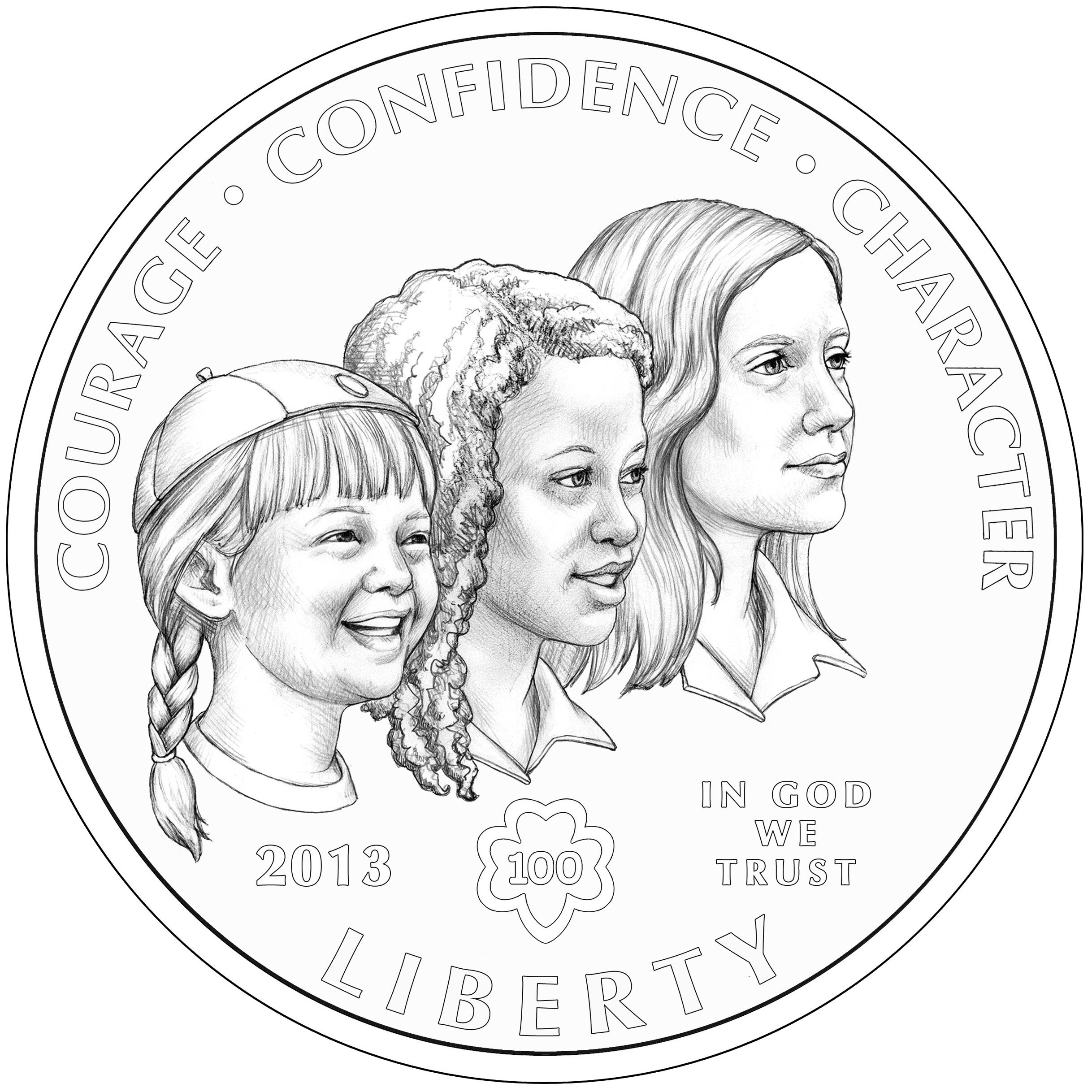 The Girl Scouts Of The Usa Centennial Silver Dollar