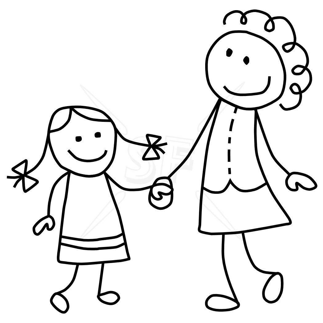 Mom And Dad Stick Figure Clip Art