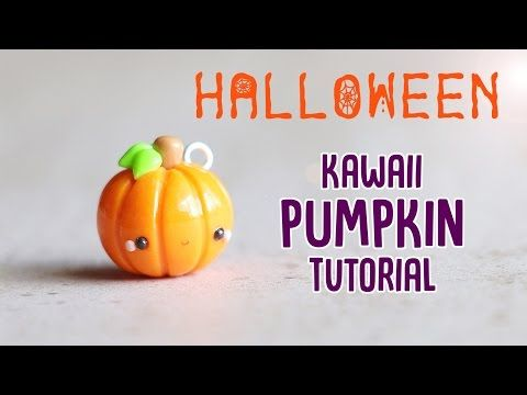 easy kawaii pumpkin polymer clay halloween tutorial you