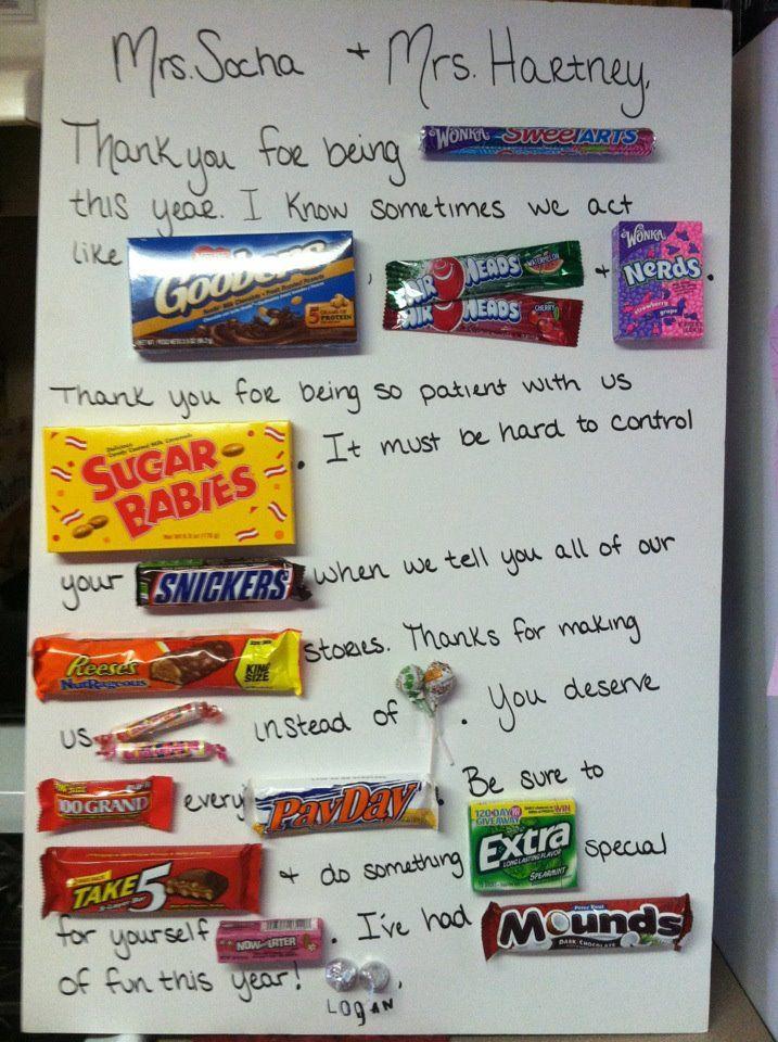 Logan's Teacher Appreciation letter to his teachers. SO
