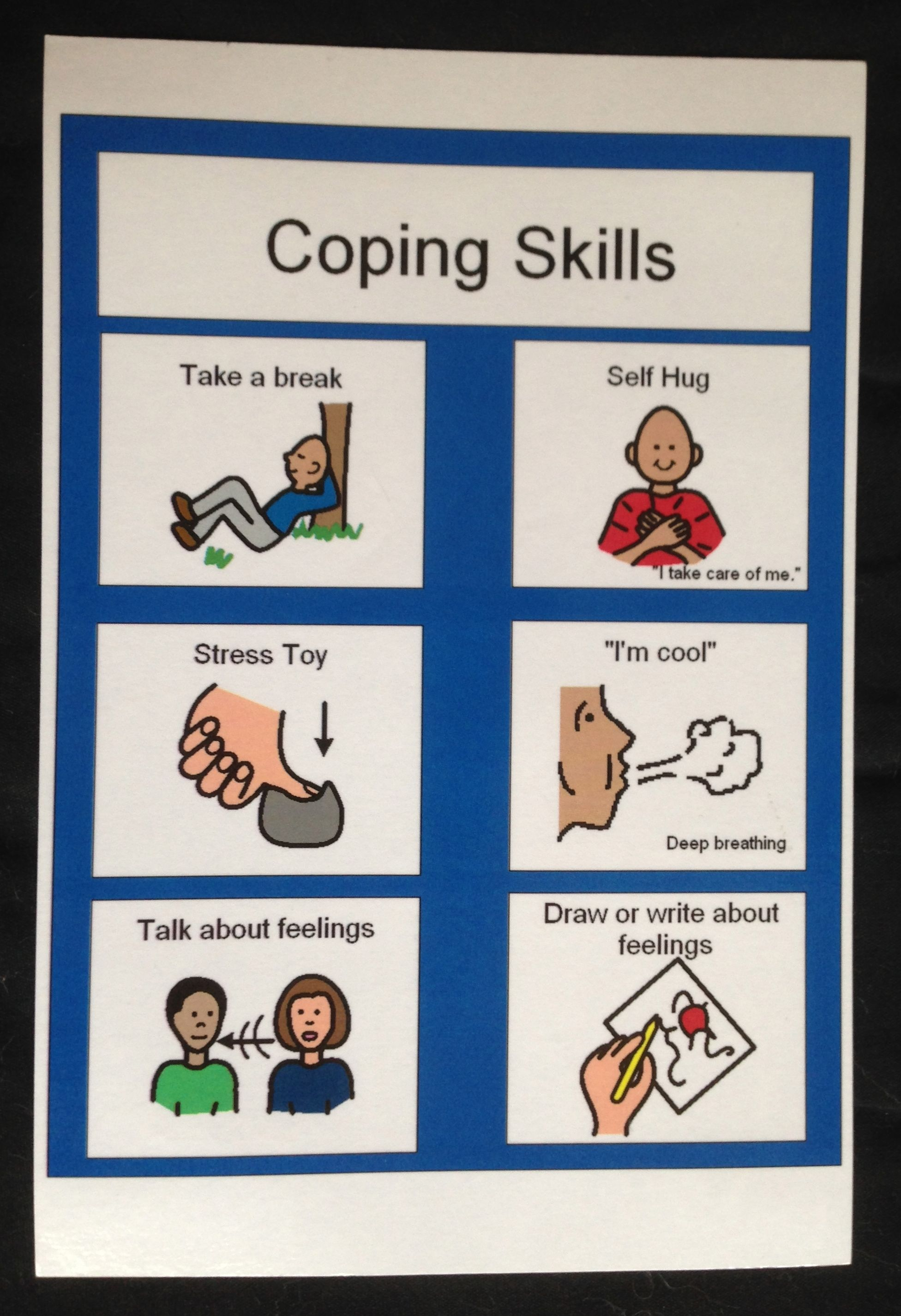 Coping Skills Choices For A Student Who Is Feeling Anxious