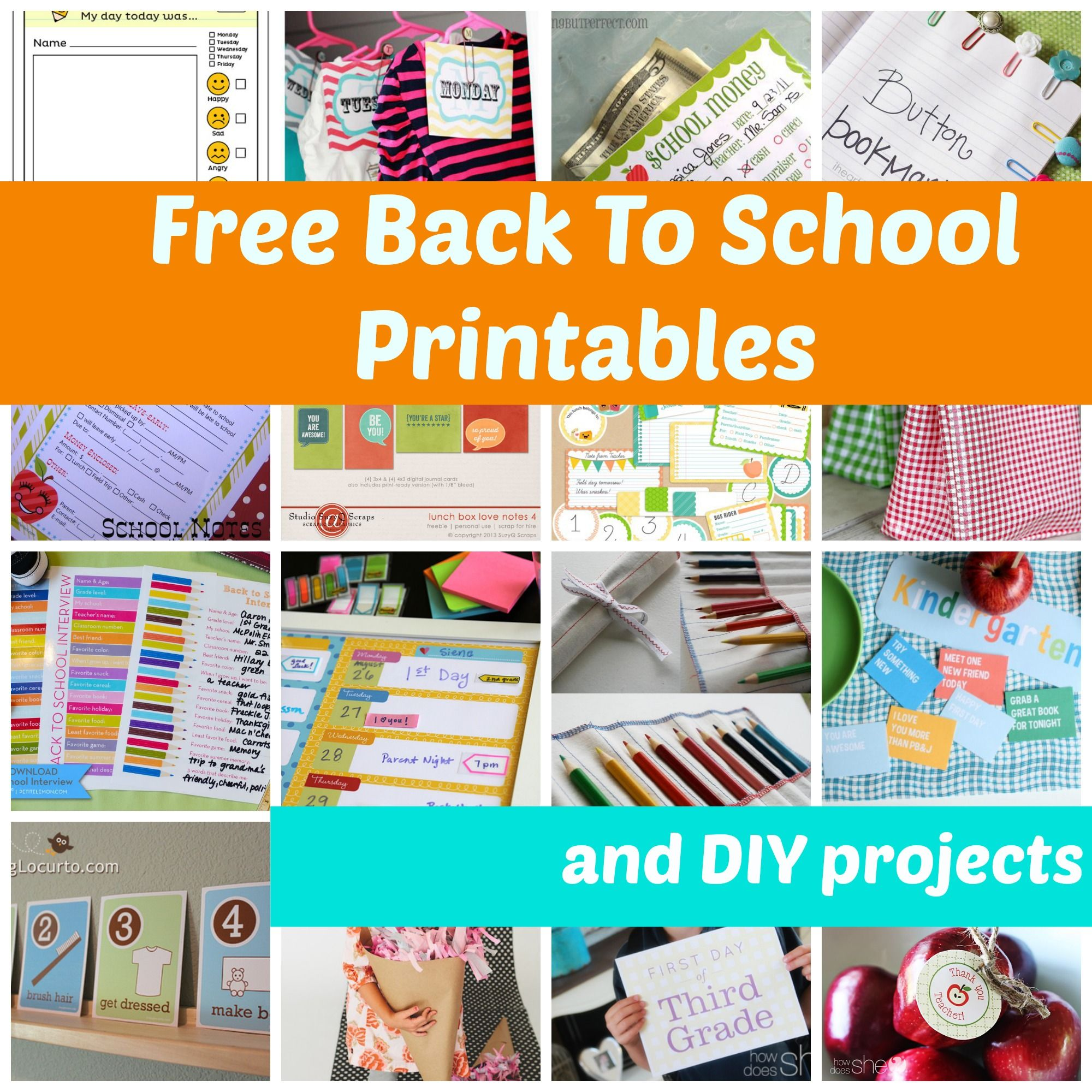 Free Back To School Ideas To Make Their First Day Special Printables And Diy Projects