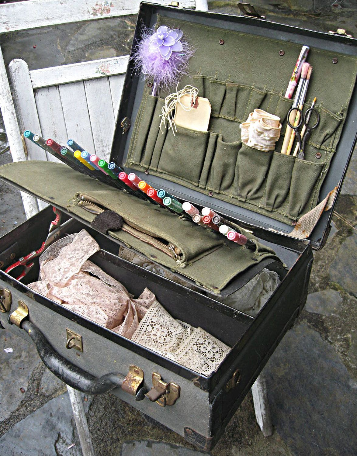 The 25 Best Painted Suitcase Ideas