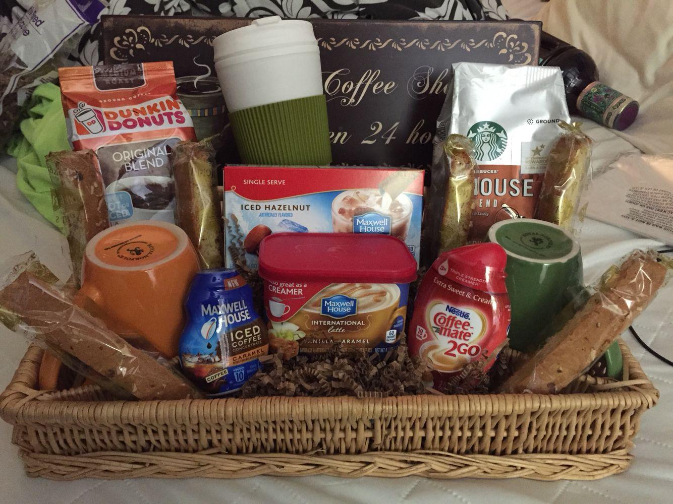 Coffee lovers gift basket Raffle basket Gift ideas