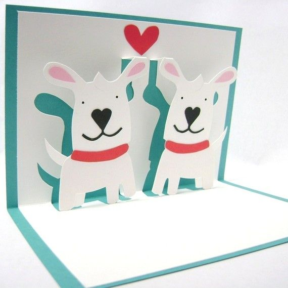 Puppy Love Pop Up Card By CookieBits On Etsy 885