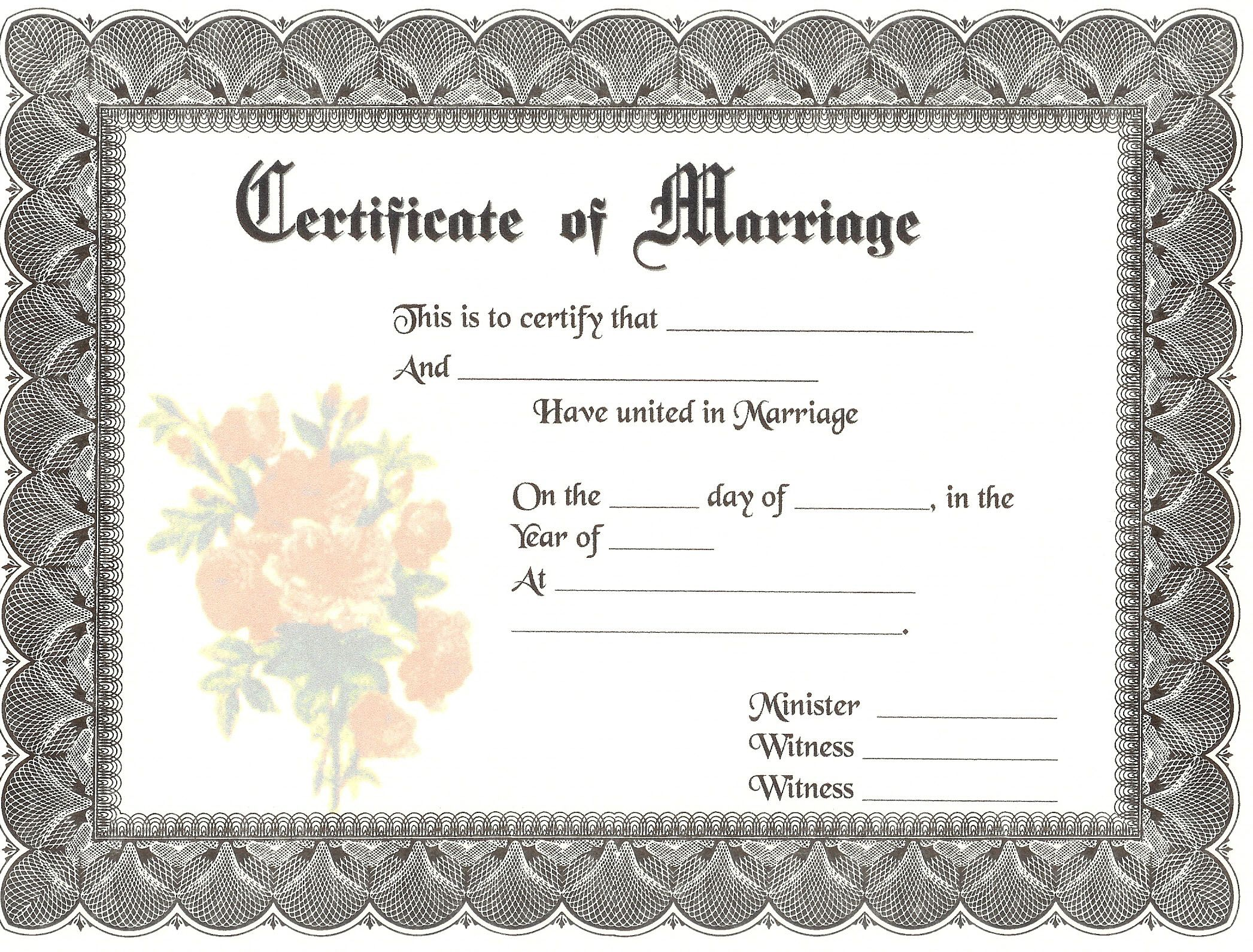 graphic about Free Printable Marriage Certificate identify Printable Relationship Certification Template. free of charge extravagant