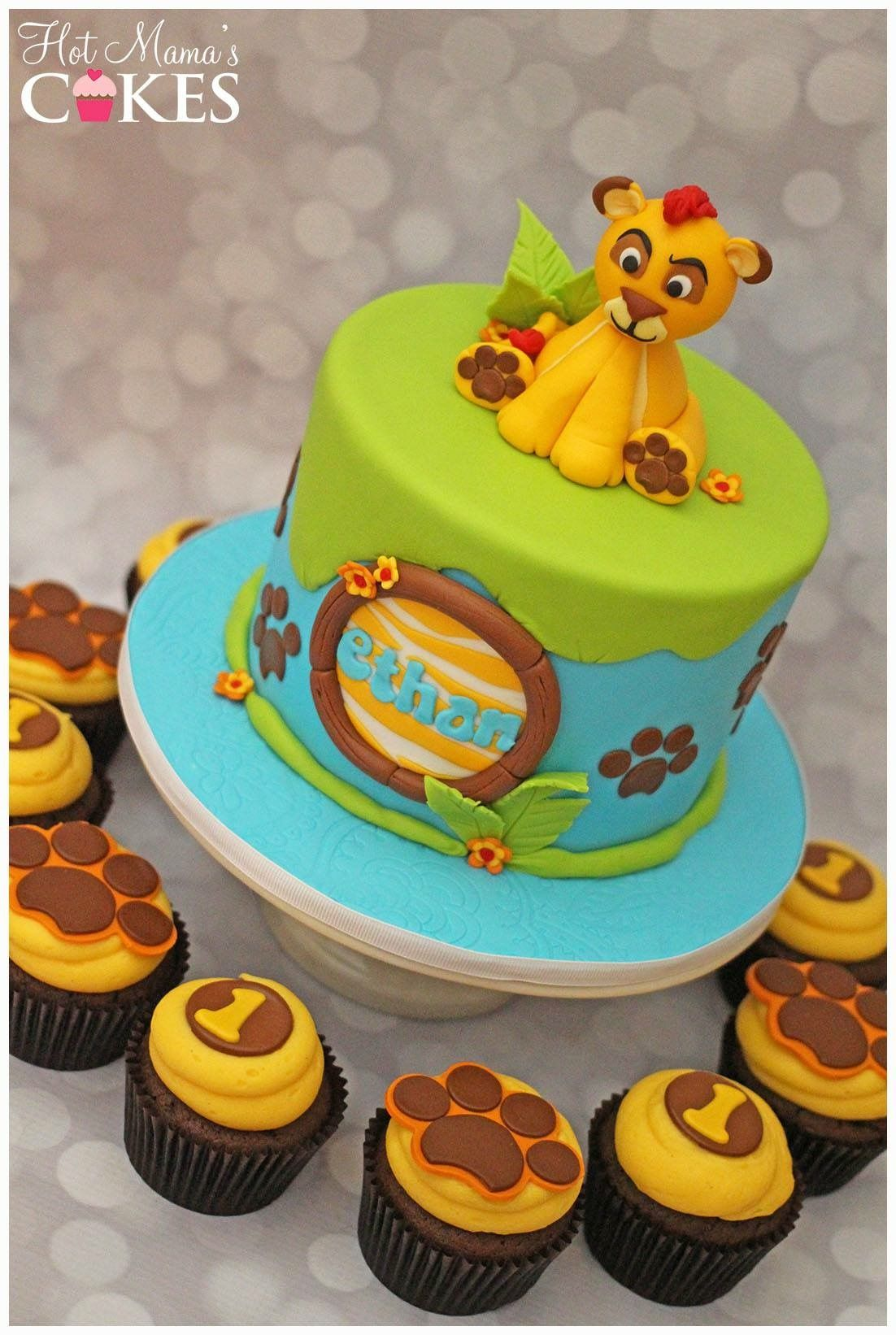 Lion Guard Inspired Cake And Cupcakes