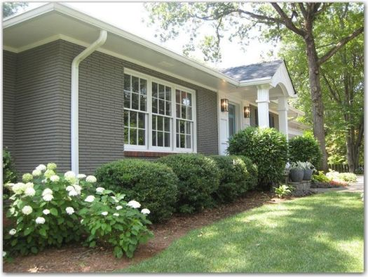 Image Result For Painted Brick House Ideas