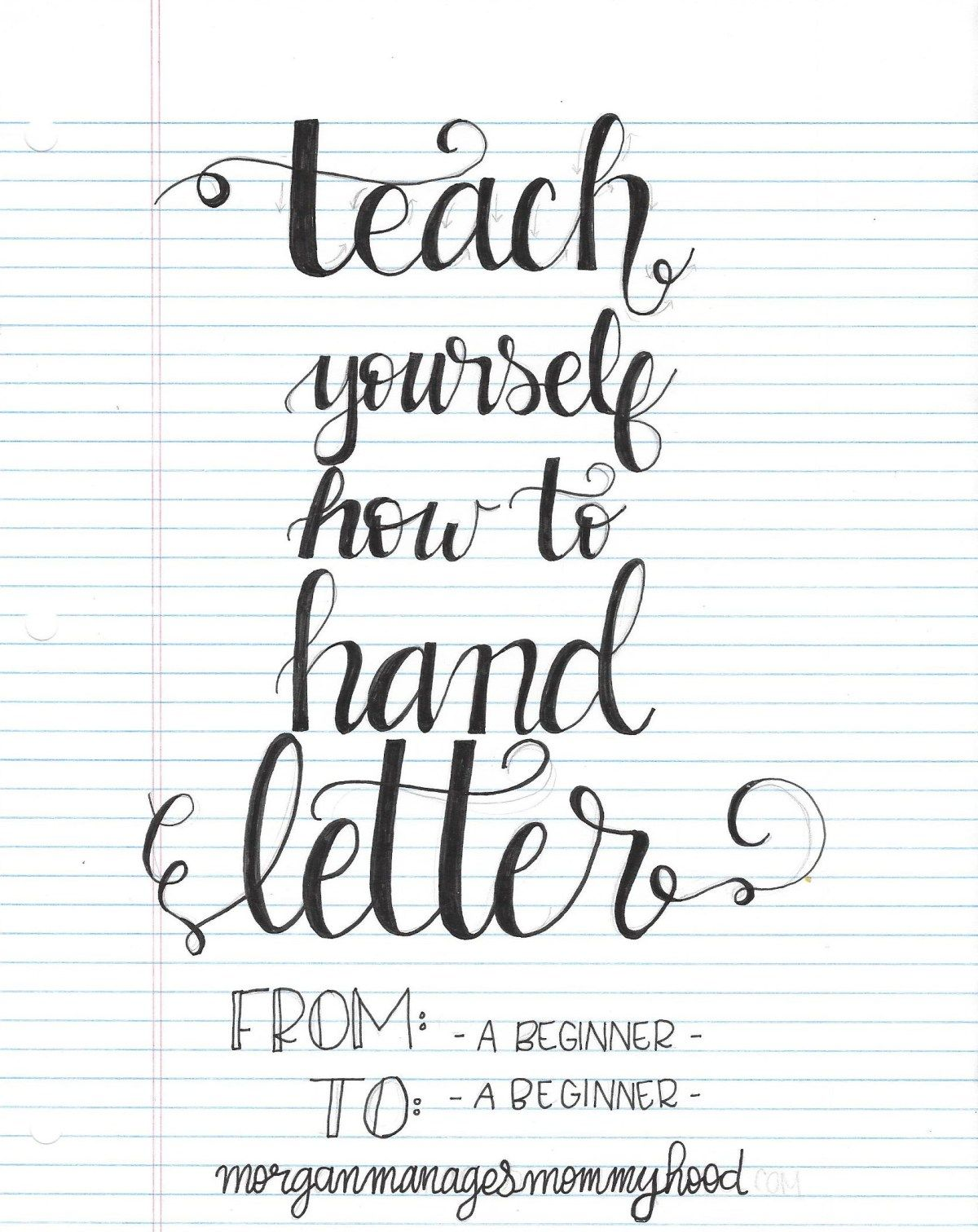 Teach Yourself How to Hand Letter Creativity, Lettering