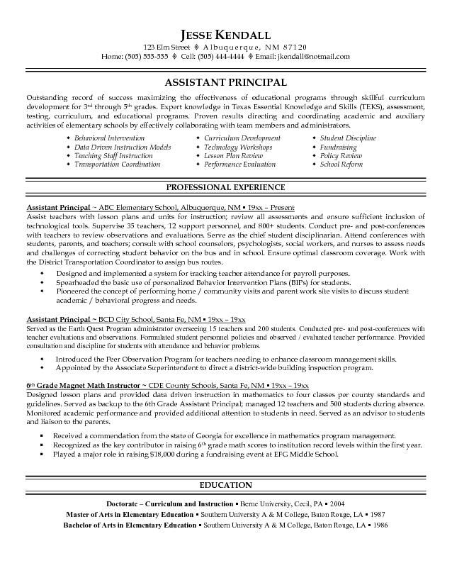 1000 images about resume on pinterest assistant principal