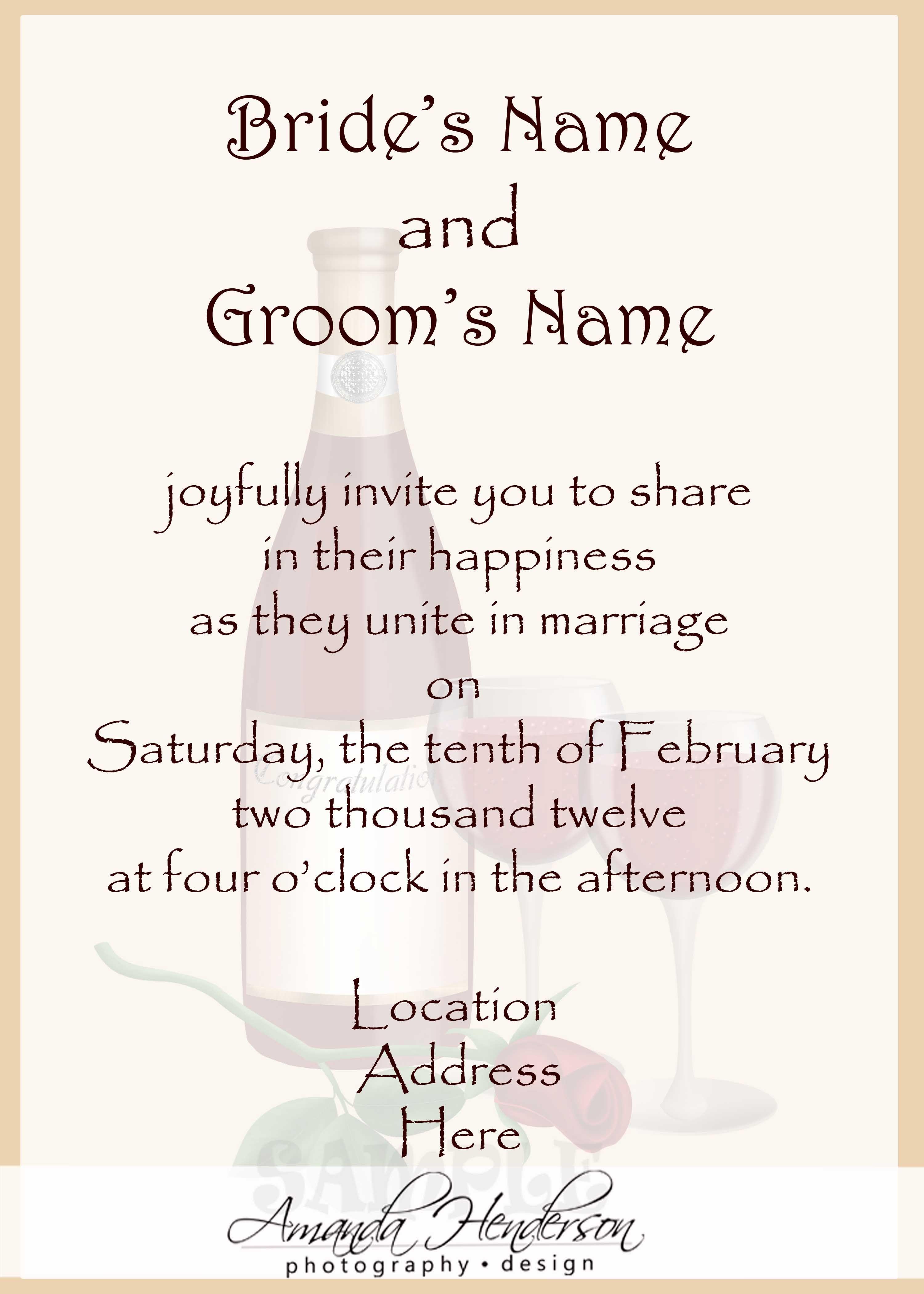 Wedding Invitation Wording Samples 21st, Invitation