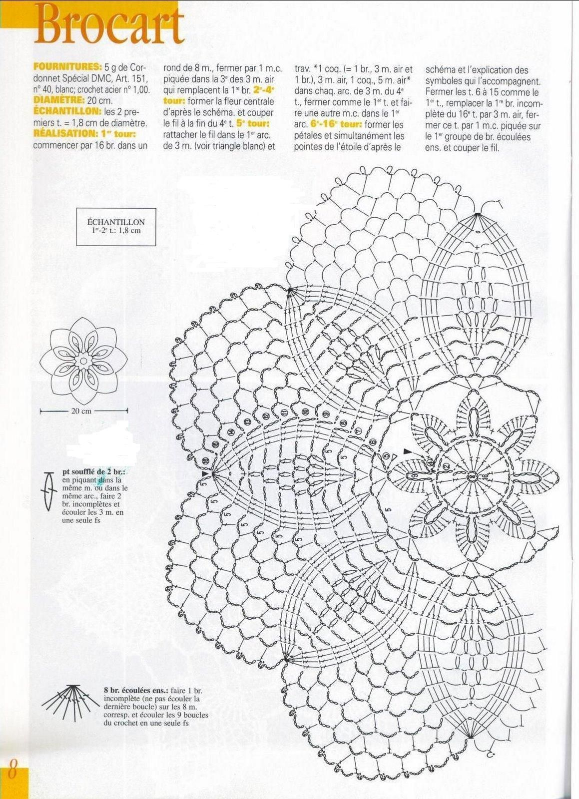 Brocart Crochet Doily Diagram