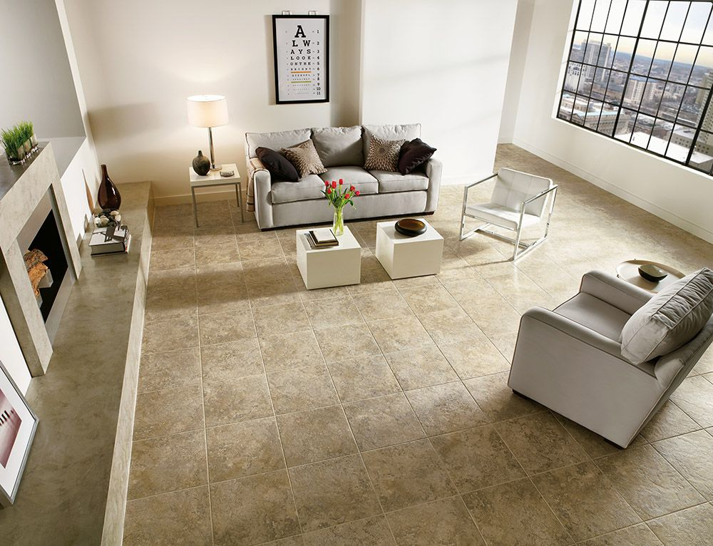 Armstrong Luxury Vinyl Tile Flooring LVT Tan Tile