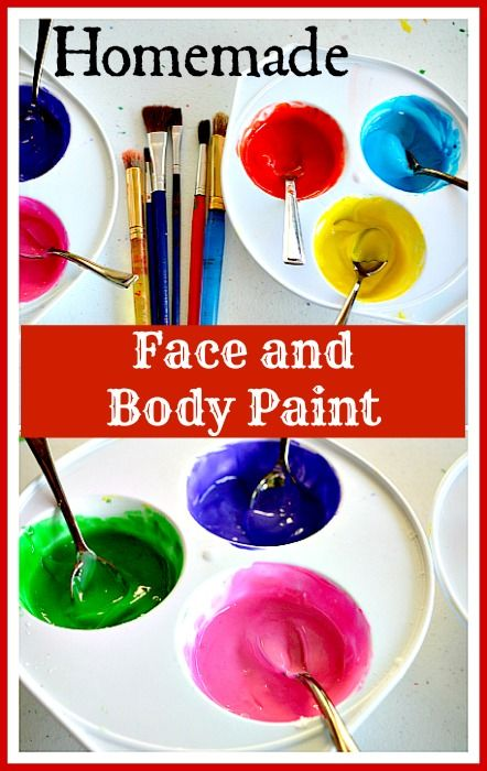 Homemade Face And Body Paint Recipe Uses Corn Starch Lotion Or Cream Water