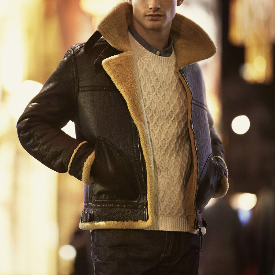 Shearling x Leather Style Pinterest Leather, Fashion