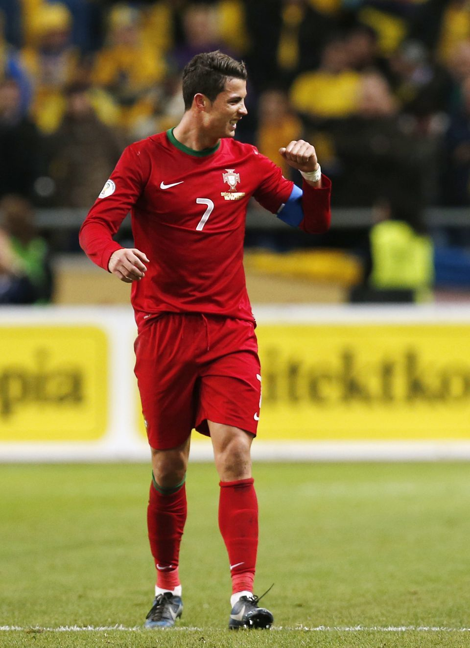 Cristiano Ronaldo of Portugal in his new Nike Mercurial