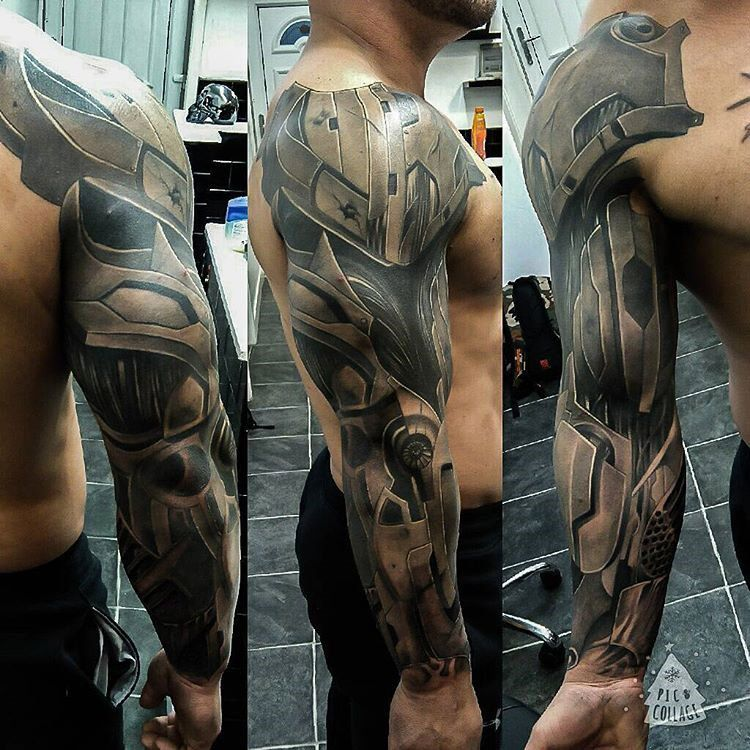 Armor Sleeve Best tattoo ideas & designs TATS