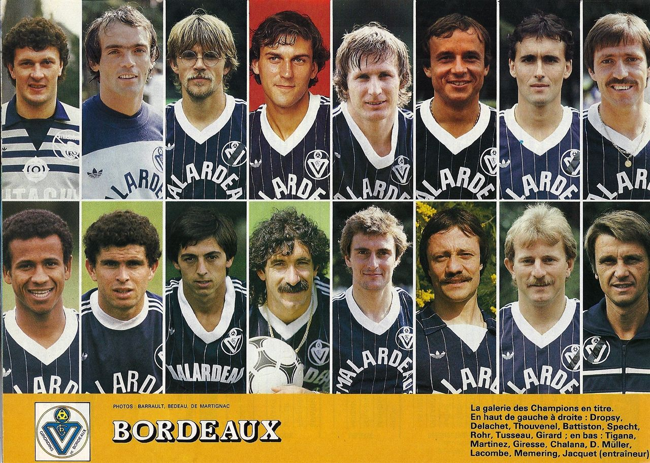 Girondins de Bordeaux 1985 archives equipes foot Pinterest