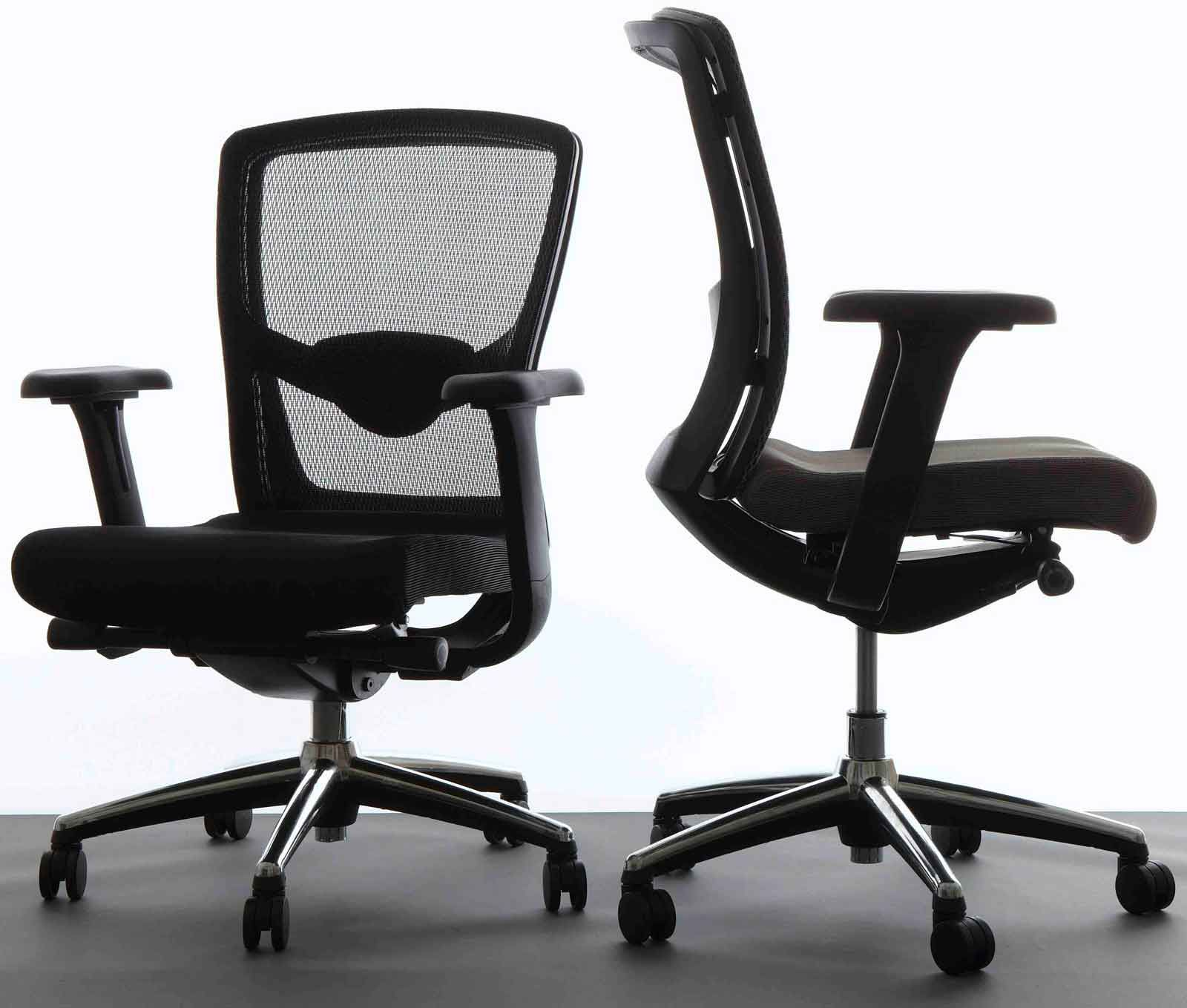 Marvelous Ergonomic Desk Chairs With Black Color And Set