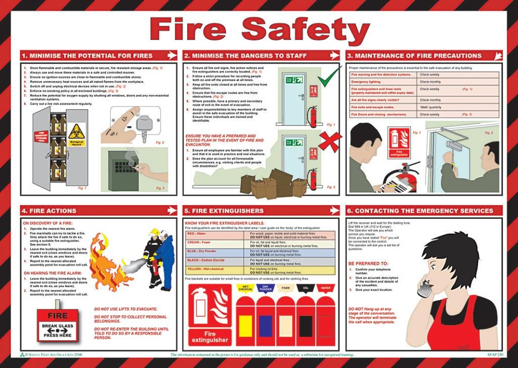 Fire Safety Poster for the Workplace Safety Pinterest