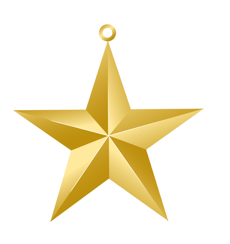 Christmas Gold Star Ornament PNG Picture Christmas Clip