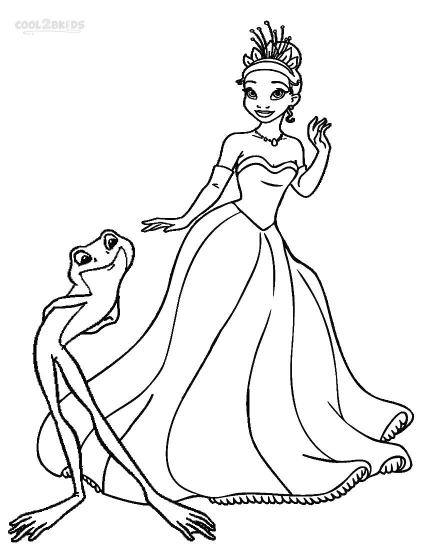Printable Princess Tiana Coloring Pages For Kids ...   princess tiana printable coloring pages